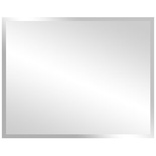 Bellaterra Home Rectangular Frameless Bathroom/Vanity Wall Mirror