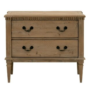Brian Wooden 2 Drawer Chest by August Grove