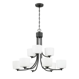 Latitude Run Rosalin 9-Light Shaded Chandelier