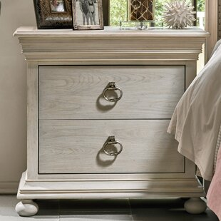 One Allium Way Effie 2 Drawer Nightstand