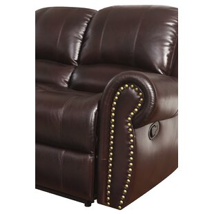 Darby Home Co Barnsdale Reclining 3 Piece Leather Living Room Set
