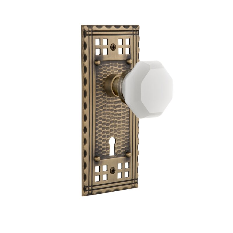 Nostalgic Warehouse White Milk Glass Waldorf Interior Mortise Door Knob With Craftsman Long Plate Wayfair