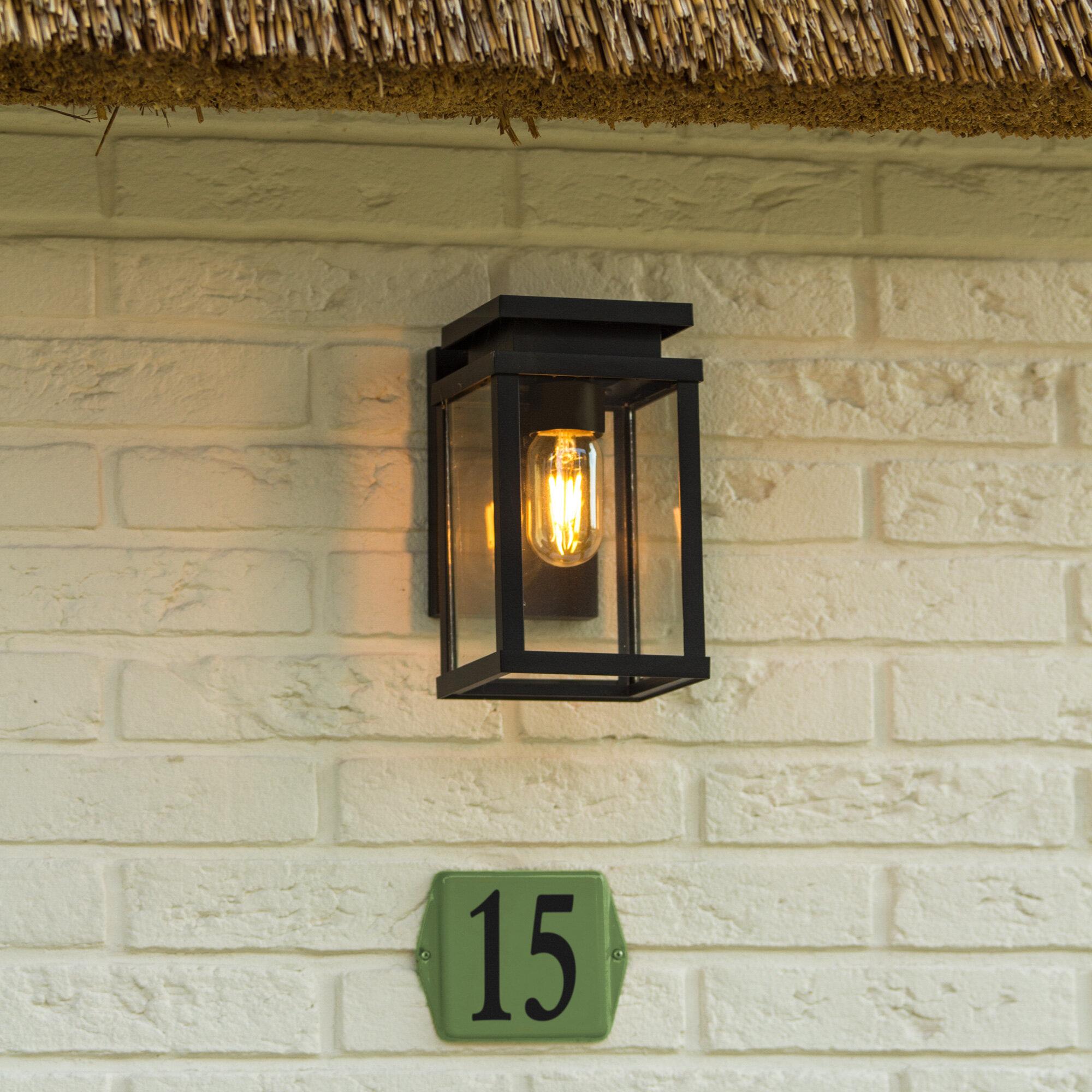 Dakota Fields 1 Light Outdoor Wall Lantern Reviews Wayfair Co Uk