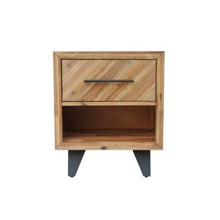 Fiskeville Acacia 1 Drawer Nightstand