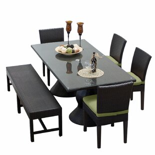 TK Classics Napa 6 Piece Dining Set with Cushions