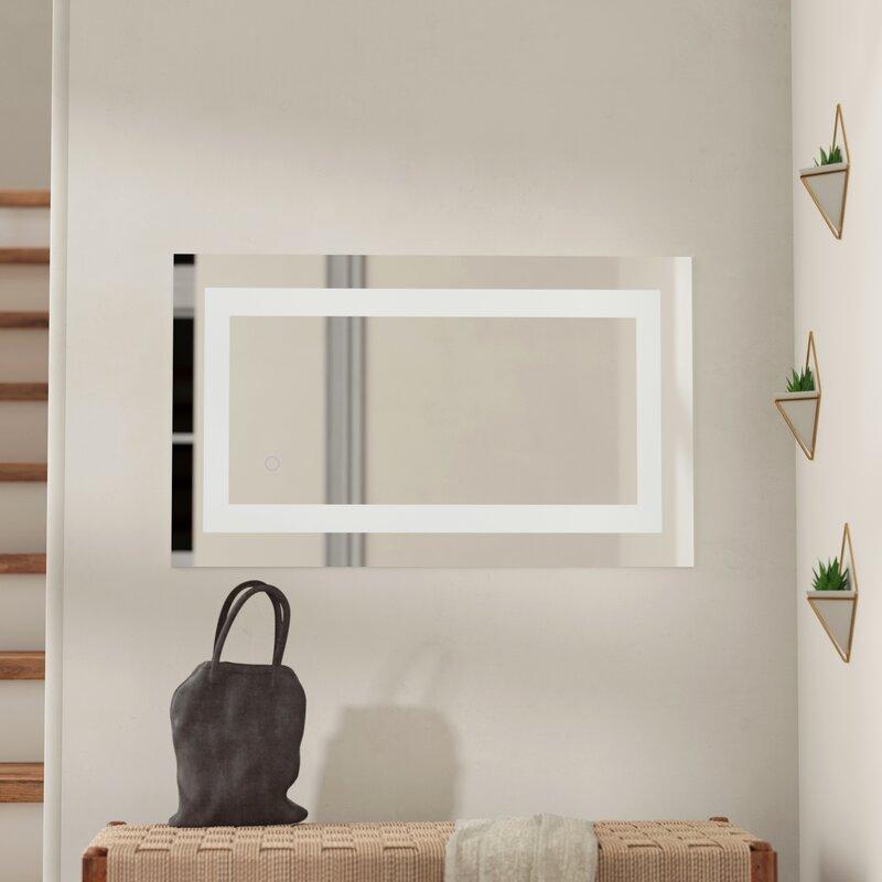 . Tulloch Hardwired LED Lighted Bathroom Mirror