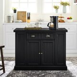 Estep Kitchen Island with Granite Top by Highland Dunes