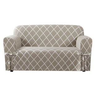 Lattice Box Cushion Loveseat Slipcover