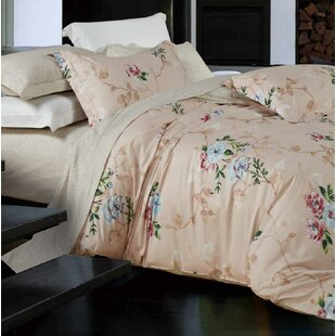 Bernardo 100% Cotton 3 Piece Reversible Duvet Cover Set