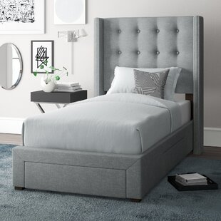 Arno Twin Upholstered Storage Panel Bed by Wade Logan