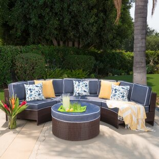 Latitude Run Daniela 5 Piece Sectional Set with Cushions