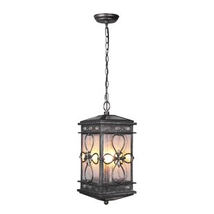 August Grove Caddy 3-Light Outdoor Hanging Lantern