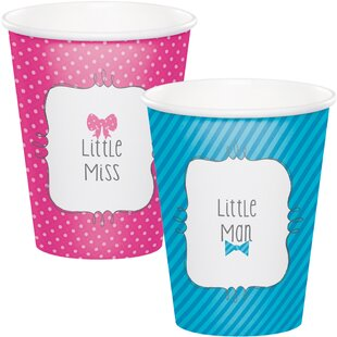 Bow or Bowtie Reveal Paper Disposable Cup (Set of 24)