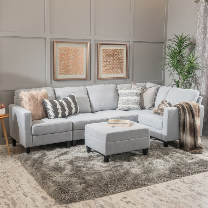 Enjoyable Longwood Modular Sectional With Ottoman Uwap Interior Chair Design Uwaporg