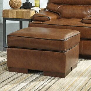 17 Stories Haines Leather Ottoman