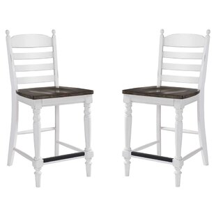 Brinda Ladder Back 24 Barstool (Set of 2) August Grove