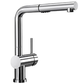 Linus Pull Out Single Handle Kitchen Faucet Reviews Allmodern