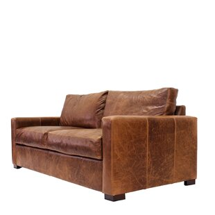 Shop Soren Leather Sofa by 17 Stories