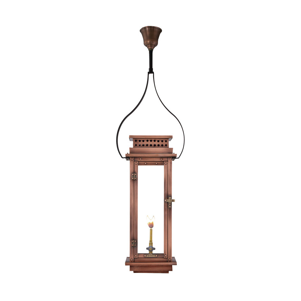 Primo Lanterns Nouveau Aged Copper Black Outdoor Hanging Lantern Wayfair