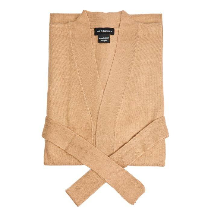 Cashmere Collection Martha Cashmere Robe In Sand Null Wayfair