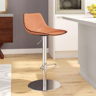 Charlee Adjustable Height Bar Stool by Wade Logan