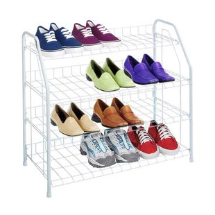 Big Save 4-Tier 12 Pair Shoe Rack By Sunbeam