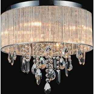 CWI Lighting Jacquimo 9-Light Flush Mount
