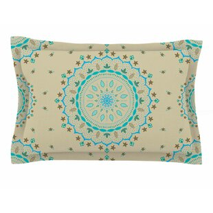 Cristina Bianco Design 'Blue Beige Mandala' Painting Sham