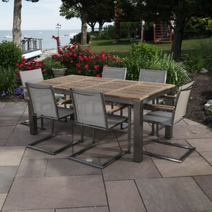 Madbury Road Bali 7 Piece Teak Dining Set with Cushions
