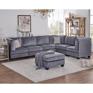 Arleen Modular Sectional with Ottoman by Ivy Bronx SKU:DE488392 Purchase