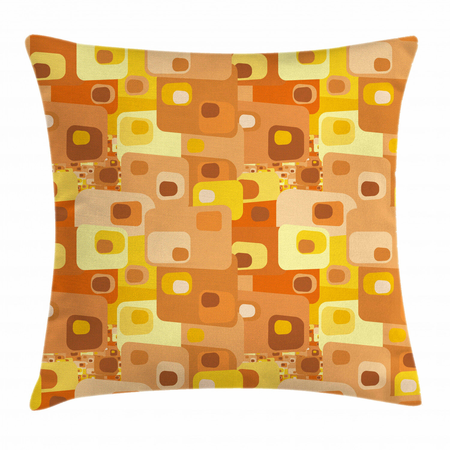 East Urban Home Ambesonne Retro Throw Pillow Cushion Cover Abstract Square Pattern Rounded Funky Geometric Modern Ornament Tiled Illustration Decorative Square Accent Pillow Case 26 X 26 Multicolor Wayfair