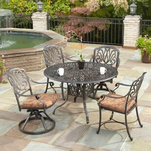One Allium Way Regent 5 Piece Dining Set with Cushions