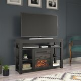 Pettis TV Stand for TVs up to 55 with Fireplace Included by Andover Mills™