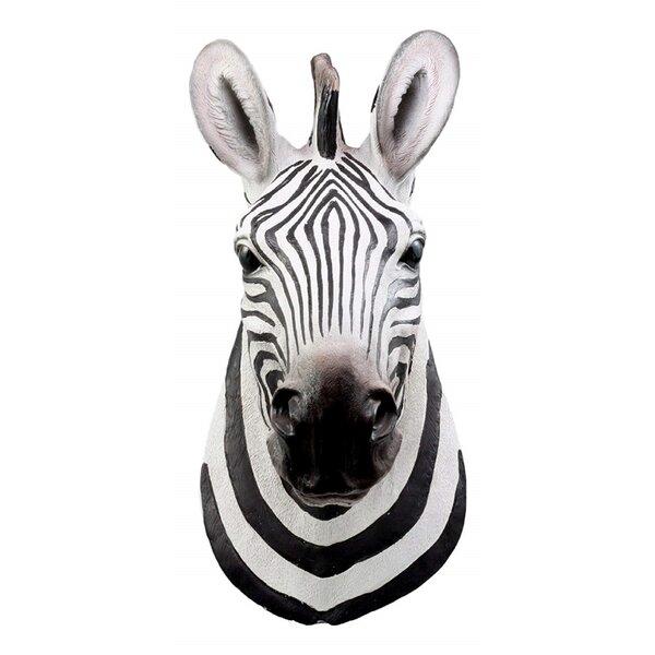 Wall mounted sebra head decorative exotic African animal unique home decor gift
