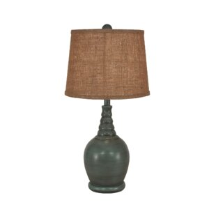 Bay Isle Home Seymour Round 24' Table Lamp with Ribbed Neck