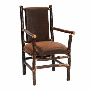 Hickory Back Fabric Armchair by Fireside Lodge