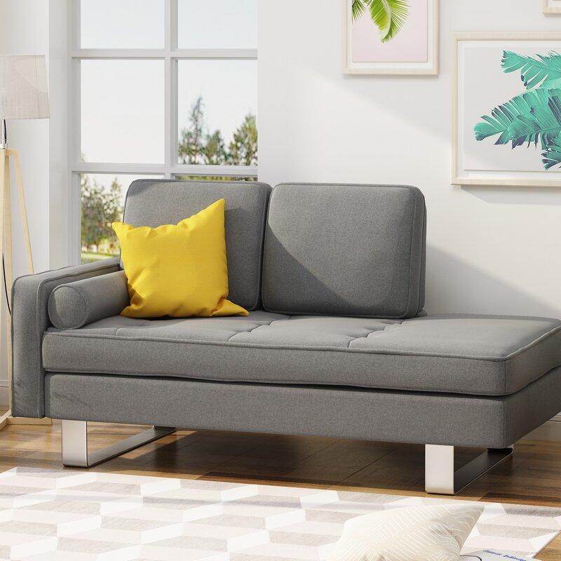 Orren Ellis Tess Modern Chaise Lounge & Reviews | Wayfair