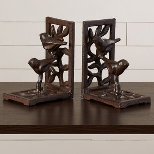 Strikingly Idea Bird Bookends. Cast Iron with Bird Book Ends  Set of 2 Bookends You ll Love Wayfair