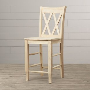 Lynn 24 Wood Bar Stool Mistana