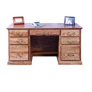 Kitchen Double Pedestal Executive Desk by Loon Peak Reviews