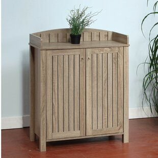 Coupon Slatted Pattern Shoe Storage Cabinet with Molded Top By Red Barrel Studio