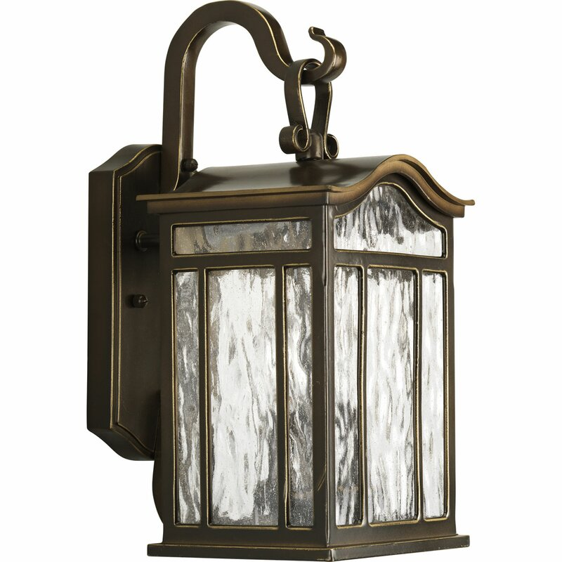 Alcott Hill Triplehorn 2 Light Outdoor Wall Lantern Reviews Wayfair