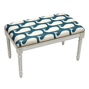 123 Creations Whales Wood Bench