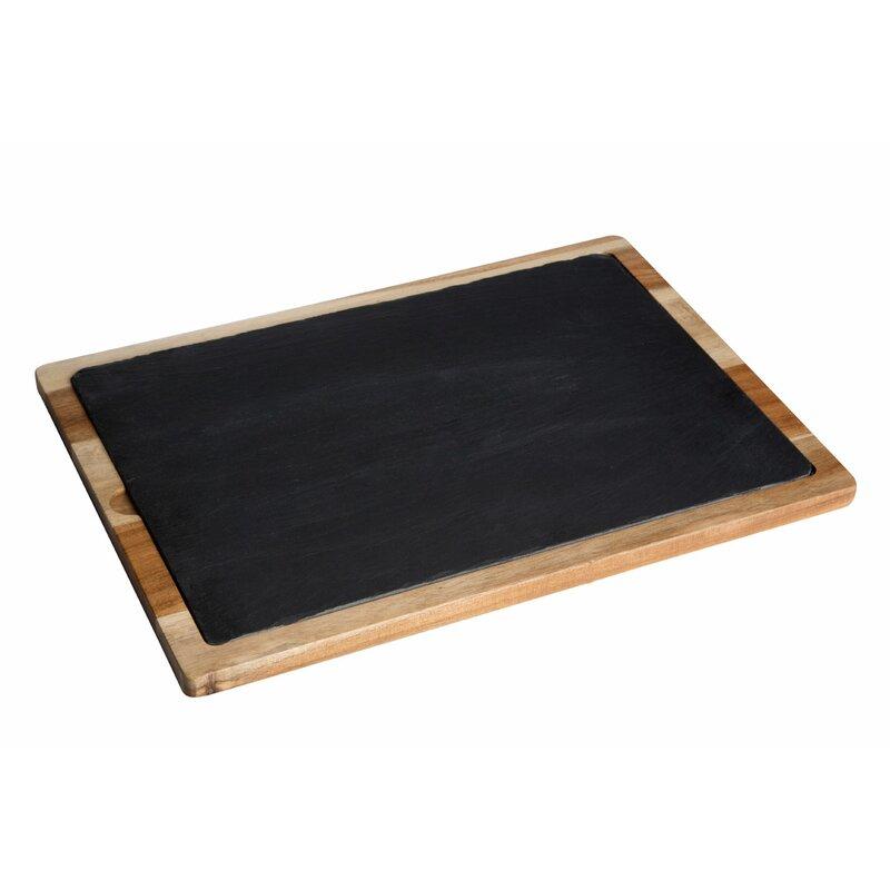 Castleton Home Servierplatte Holz Und Schiefer Wayfairde