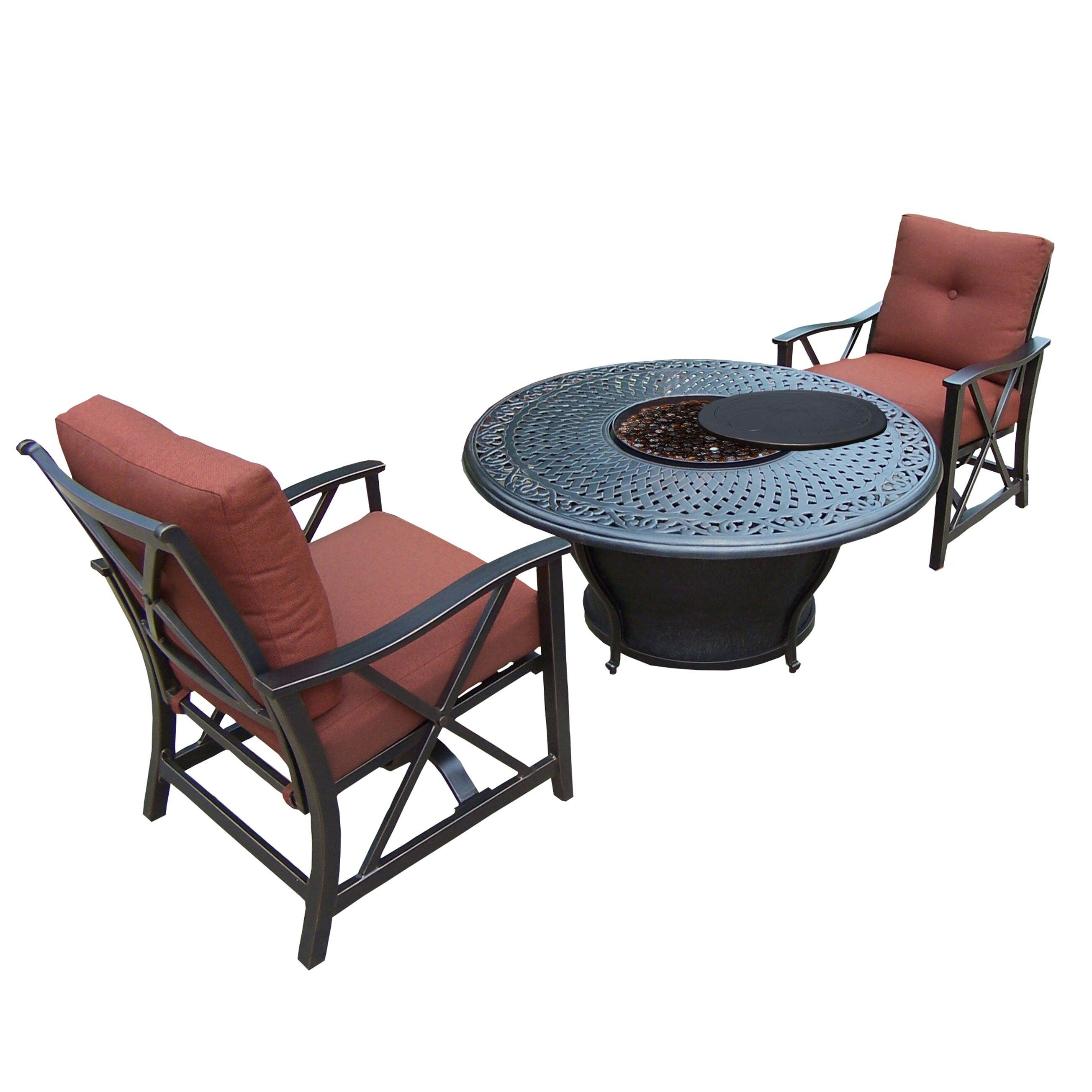 Darby Home Co Owego 3 Piece Conversation Set with Cushions Reviews
