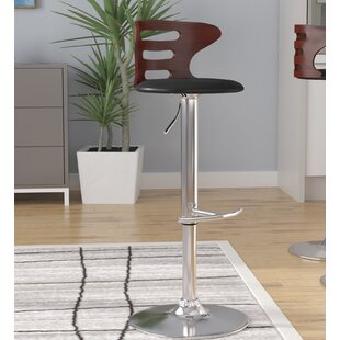 Catina Adjustable Height Swivel Bar Stool Wade Logan