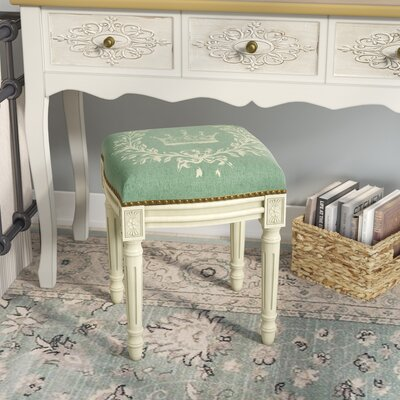Groovy Lark Manor Clematite Coral Crown Linen Upholstered Vanity Stool Alphanode Cool Chair Designs And Ideas Alphanodeonline