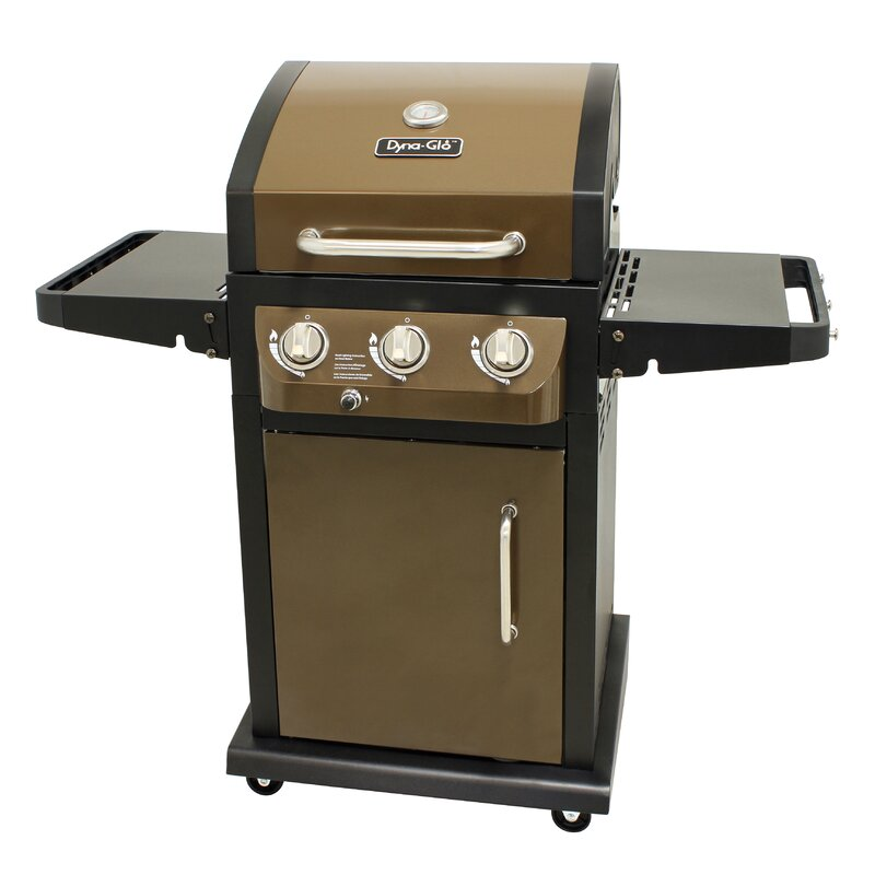 Dyna-Glo LP 3-Burner Propane Gas Grill with Cabinet & Reviews ...
