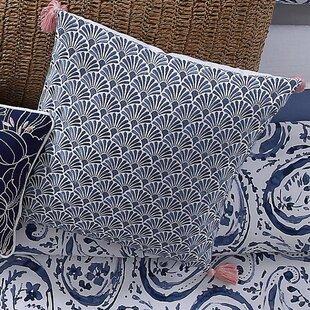 Janiyah Decorative Scallop Cotton Throw Pillow