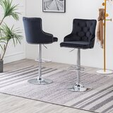 Minoru Swivel Adjustable Height Bar Stool by Rosdorf Park